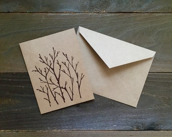 LIMITED EDITION birch branches and twigs greeting card