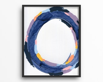Indigo Decor Abstract Wall Art Blue Abstract Art Bedroom Decor Blue 8 x 10 Artwork Abstract Artwork Blue Wall Decor