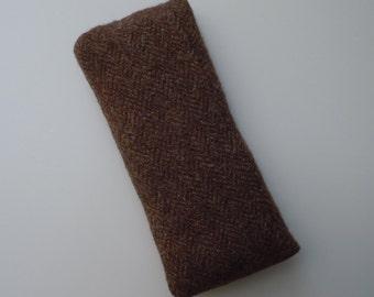 Felted Brown Tweed Wool Catnip Kick Stick Cat Toy