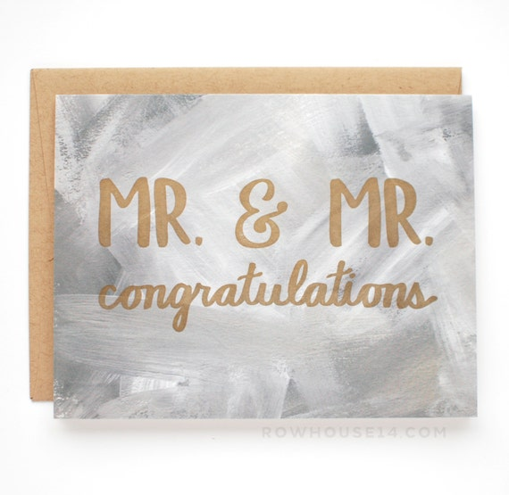 Gay wedding card mr congratulations