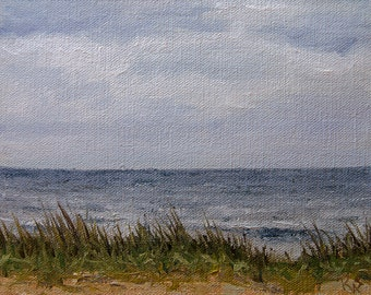 Plein Air, Windy Morning, Oil painting landscape