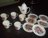 Vintage Mickey Mouse Tea Set by Walt Disney Productions in great condition