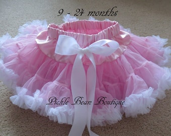 Pink Tutu, Ready To Ship, Pink White Pettiskirt, 1st Birthday Girl Outfit, Baby Pettiskirts, Tutus, Girls First Birthday Outfits, 3rd 4th
