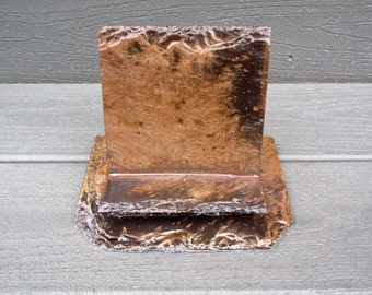 Greeting card, phone or recipe card display, made from 80 year old weathered slate. # A-18