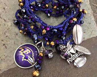 Baltimore Ravens Crochet Wrap