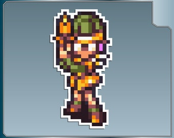 LUCCA Sprite No. 2 from Chrono Trigger 16 Bit Vinyl Decal Sticker