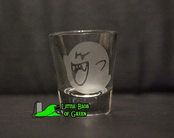 Boo Shot Glass - Your choice between scared Boo and attack Boo