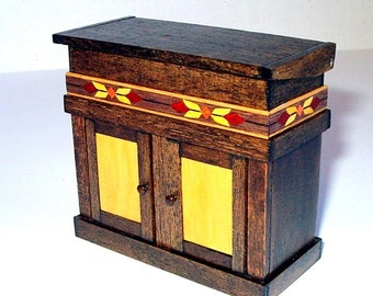 Dry Sink, Dollhouse Miniature 1/12 Scale, Hand Made