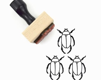 Beetle Rubber Stamp - Hand Drawn Bug Stamp