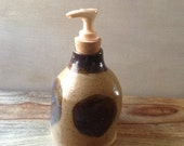 Ceramic Soap Dispenser, Pottery Soap Pump, Lotion Dispenser, Handmade Pottery Soap Dispenser, Pottery for the Bath or Kitchen