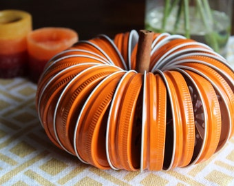 GLAMSALE DIY Pumpkin Jar Lid Kit with Twine, Fall Wedding Decor