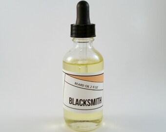 Blacksmith Men's Beard Oil Barber Shop Oil Pre-Shave Treatment Manly Scent Woosdy Moisturizing Oil 2oz