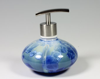 Turquoise Crystalline Glazed Lotion/Soap Pump
