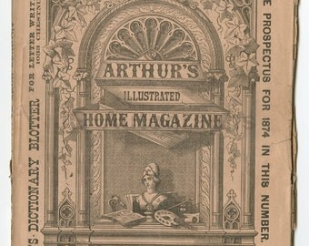 Arthur's Lady's Home Magazine - 19th Century Women's Magazine - June 1874