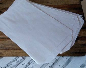 150 White Kraft Flat Paper Bags,   4 x 6 Inches,  Wedding DIY, Candy Buffet Bags, Favor Bags  Merchandise Bags,