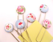 Super Sized Paper Clips with Fun Fabric Buttons - Shabby Chic Cath Kidston Fabrics