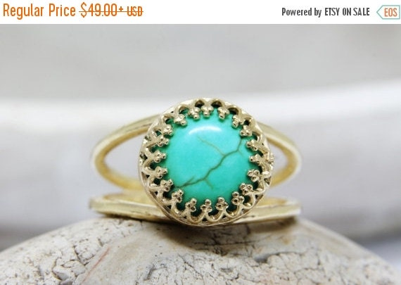 WINTER SALE - turquoise ring, gold ring,delicate ring, turquoise jewelry, gemstone ring, 14k gold fill ring, December birthstone