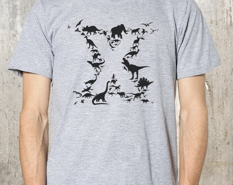 Men's Dinosaur T-Shirt - American Apparel - Available in S, M, L, XL and XXL