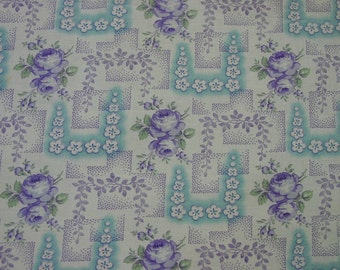 "Fabulous Antique,Vintage Cotton Fabric, 31"" Wide, By the Yard, Perfect"
