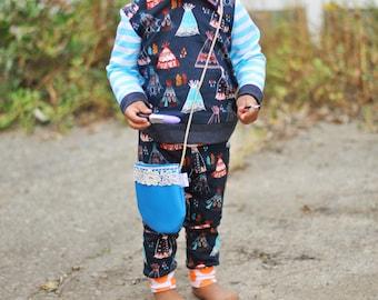 Tiny Traveler Teepee Organic Terry Knit Cuff Leggings/Pants