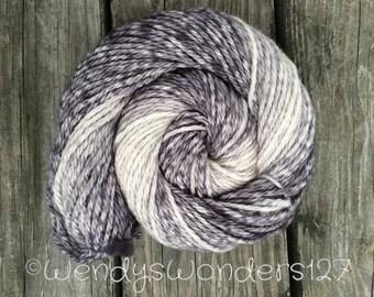 Hand Dyed Yarn, Gradient Yarn, Bulky Yarn, Merino Wool, 130 yards