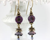 Purple Petals Earrings