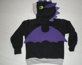 Monster Hoodie, Monster sweatshirt, Dragon shirt, size 4T, Toddler sweatshirt, Imagination, play shirt, animal hoodie