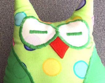 Cute Pocket Owl, Owl Tooth Fairy Pillow, Nursery Decor