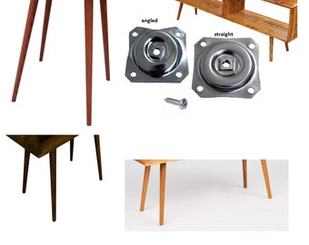 DIY - Mid Century Inspired Table Legs - Set of 4 with mounting hardware