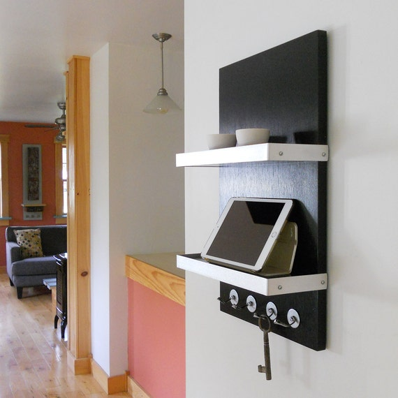 Charging Station For Him Black Modern Wall Mount Ipad