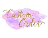 Custom listing for Cathy Wilson
