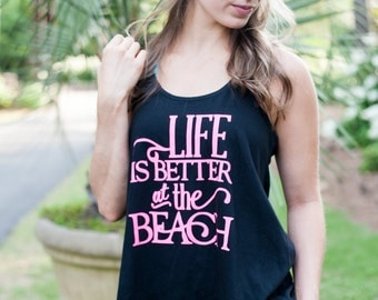 Life is Better At the Beach Flare Tank