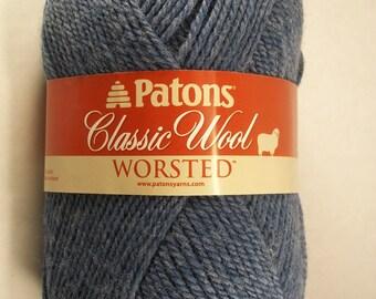 patons classic wool worsted yarn ~ new denim ~