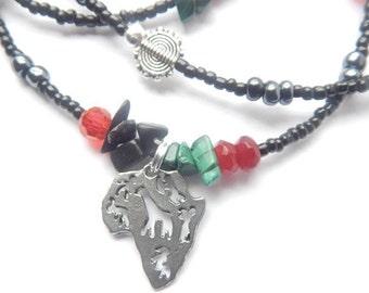 Waist Beads, Garvey African Liberation Waistbeads