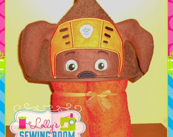 Paw Patrol Zuma puppy hooded towel - can be personalized
