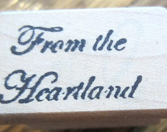 Mt. Pocket From The Heartland Wooden Rubber Stamp