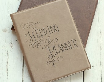 Wedding Planner Portfolio with Notepad Event Planner Portfolio Engagement Party Gift Leather Portfolio