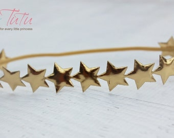 Gorgeous Vintage  Boho Bo Ho Gold Star Baby Girl Childs Headband
