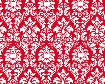 Michael Miller Fabric {by the yard} Petite Dandy Damask Red
