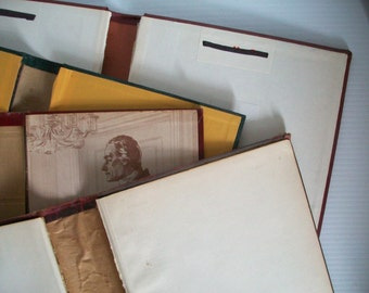 7 gutted books vintage book covers . vintage gutted books . book covers for journal making . journaling supplies . gutted hardcovers
