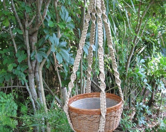 Jute 41 Inch No Beads Macrame Plant Hanger