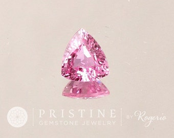 Natural Pink Sapphire Triangle Shape Fine Gemstone for Custom Engagement Ring September Birthstone