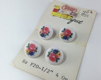 Vintage Flower Buttons with Shanks