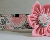 Dog Collar  with Flower - Once Upon a Time - All Sizes