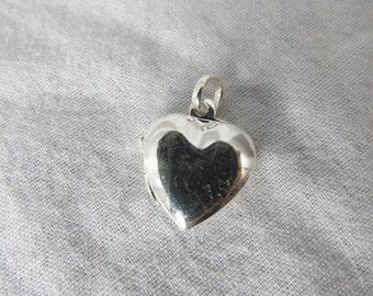 Sterling Silver Heart Pendant Locket marked .925