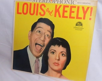 """Louis Prima Keely Smith 1959 Dot 12"""" STEREO 33 RPM LP Pop Vocal Louis And Keely King  Box U"""