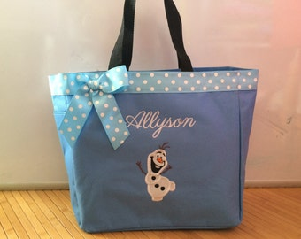 Personalized Frozen Olaf Snowman Tote Bag Baby Diaper Bag
