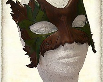 Hand-made leather mask