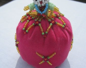 Vintage Zuni Beaded Pin Cushion Doll from the 70's