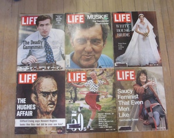 Six Life Magazines From the 1970's